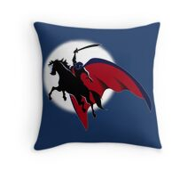 The Horseman in the Moon Throw Pillow