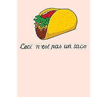 This is not a Taco Photographic Print