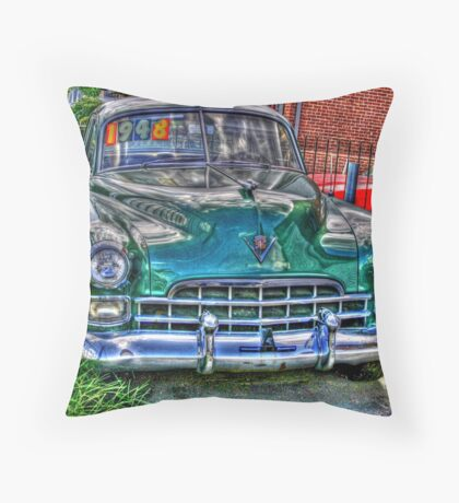 1948 cadillac front- full Throw Pillow