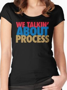 We Talkin' About Process?! (Red/Blue/Gold) Women's Fitted Scoop T-Shirt