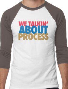 We Talkin' About Process?! (Red/Blue/Gold) Men's Baseball ¾ T-Shirt