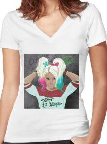 Alexa Bliss Women's Fitted V-Neck T-Shirt