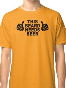 Beard t shirt funny t shirt beer tshirt cool shirt mens tshirt austin texas (also available on crewneck sweatshirts and hoodies) SM-5XL Classic T-Shirt