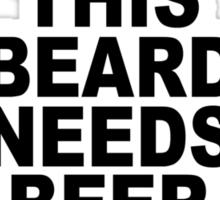 Beard t shirt funny t shirt beer tshirt cool shirt mens tshirt austin texas (also available on crewneck sweatshirts and hoodies) SM-5XL Sticker