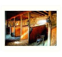 Inside the Stables at Barwon Park Art Print
