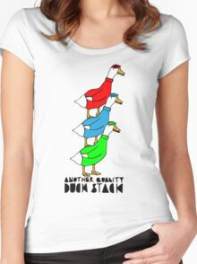Another Quality Duck Stack- with words! Women's Fitted Scoop T-Shirt