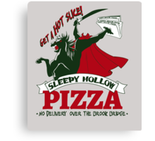 Sleepy Hollow Pizza Canvas Print