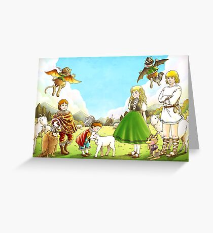 Prince Henry and Prince Edward Greeting Card