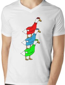 Another Quality Duck Stack- without words! Mens V-Neck T-Shirt