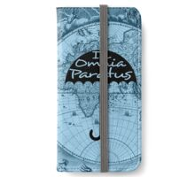 In Omnia Paratus on Blue Map iPhone Wallet/Case/Skin