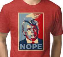 Nope Trump Not My President Tri-blend T-Shirt