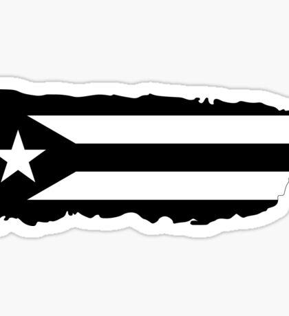 Puerto Rico Island Black Sticker