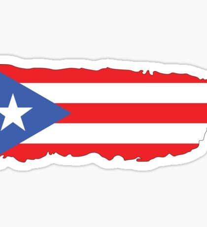 Puerto Rico Island Colors Sticker