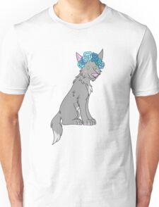 Flower Crown Wolf Unisex T-Shirt