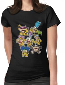 Koopalings - Paper Mario: Color Splash Womens Fitted T-Shirt