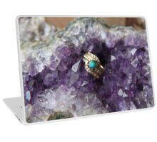 Black Opal in Amethyst Laptop Skin