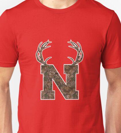 Nebraska Hunting Club Big Deer Rack Camouflage Pride Unisex T-Shirt