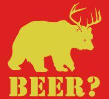 Beer T-Shirt Bear Plus Deer Funny TEE Drinking College Humor Party Shirt by beardburger