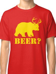Beer T-Shirt Bear Plus Deer Funny TEE Drinking College Humor Party Shirt Classic T-Shirt