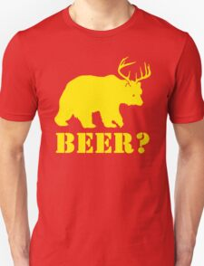 Beer T-Shirt Bear Plus Deer Funny TEE Drinking College Humor Party Shirt T-Shirt