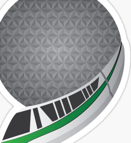 Spaceship Monorail Sticker