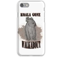 Koala Gone Walkabout iPhone Case/Skin