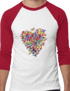 butterfly heart Men's Baseball ¾ T-Shirt