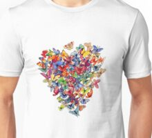 butterfly heart Unisex T-Shirt