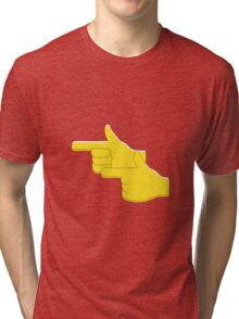 Finger Guns Tri-blend T-Shirt