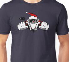 Santa Claus on Motorcycle Unisex T-Shirt