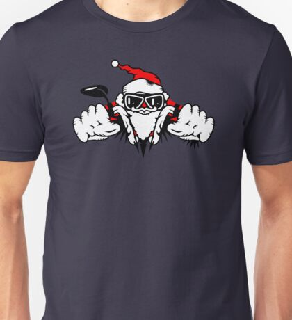 Santa Claus on Motorcycle Unisex T-Shirt