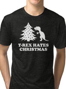 T-Rex hates Christmas Tri-blend T-Shirt