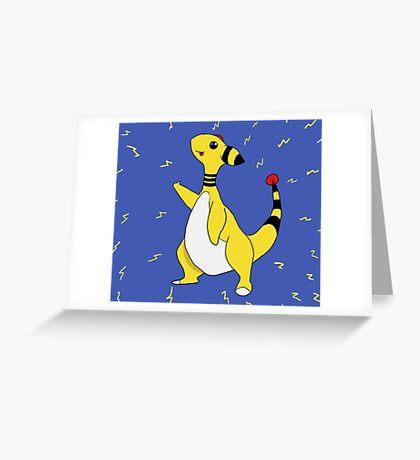 Pokemon Ampharos Greeting Card