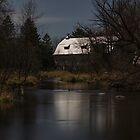 Super Moon and the Rose Barn 2016-2 by Thomas Young