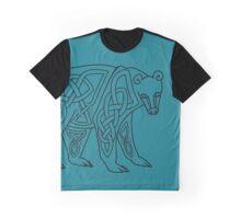 Celtic Knot Bear - Linework  Graphic T-Shirt