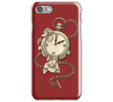 Pocket Watch And Flowers / Time Is An Enemy Of Time iPhone Case/Skin
