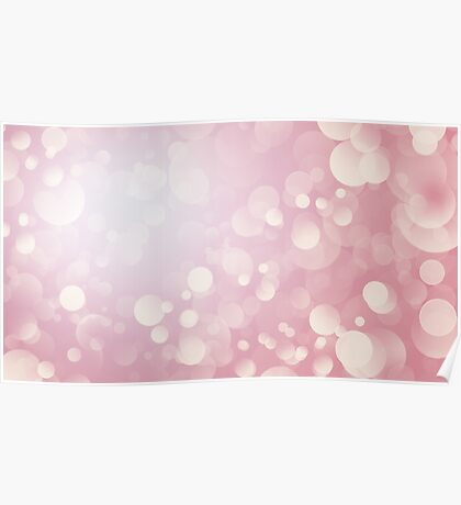 Blurred dusty pink festive background with bokeh Poster