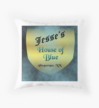 Jesse's House of Blue Throw Pillow