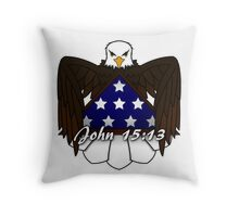 Greater Love Has No One Throw Pillow