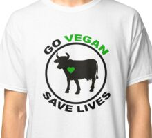 go vegan save lives Classic T-Shirt