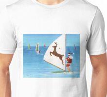 Wind Sailing Santa Unisex T-Shirt
