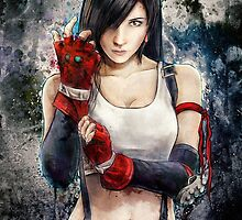 Tifa Lockhart FF7 Portrait by barrettbiggers