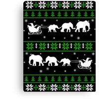 Gifts for Christmas of Elephants lover Canvas Print