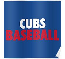 Clubs Baseball Gifts and Merchandise Poster