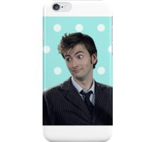 Tenth Doctor (with polka dots) iPhone Case/Skin