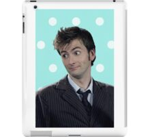 Tenth Doctor (with polka dots) iPad Case/Skin