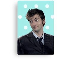 Tenth Doctor (with polka dots) Canvas Print