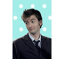 Tenth Doctor (with polka dots) Photographic Print