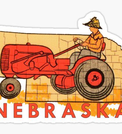 Vintage Nebraska Travel Decal Sticker