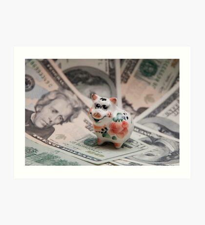 Small pig, big dollar. Art Print